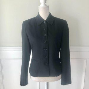 Harold Powell Black Wool Button Front Jacket 4